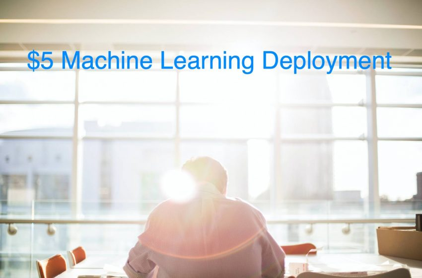 Deploy Your Machine Learning Model For $5/Month